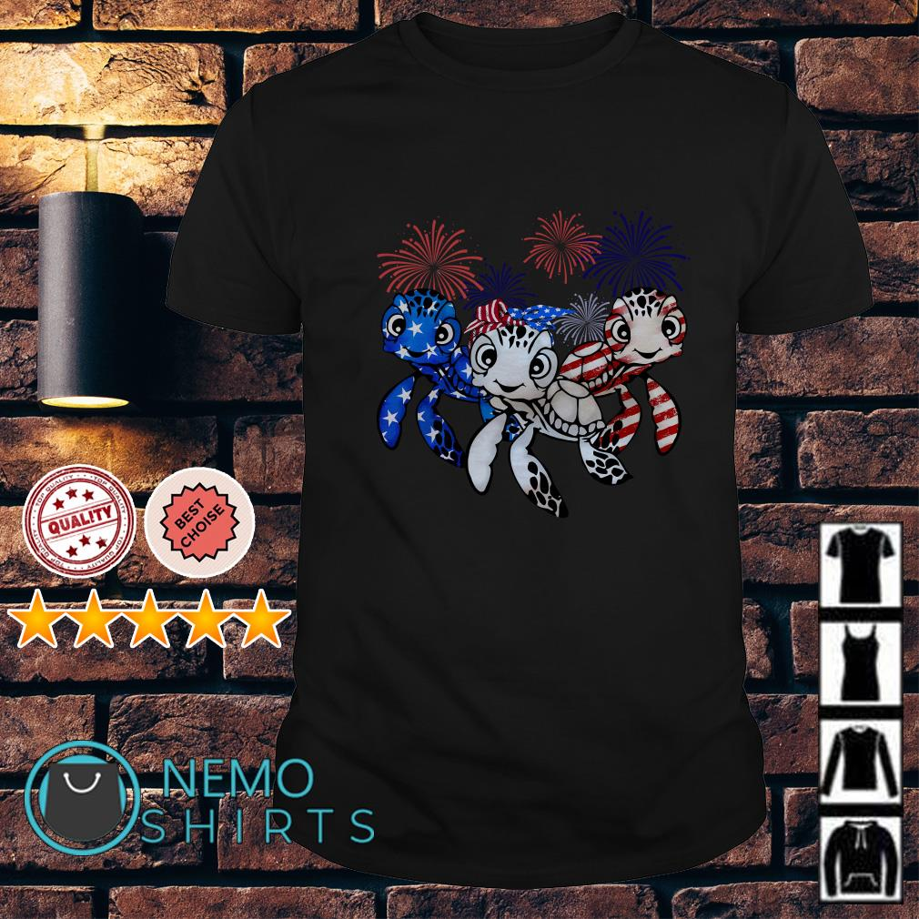 Turtle Independence Day American Flag shirt