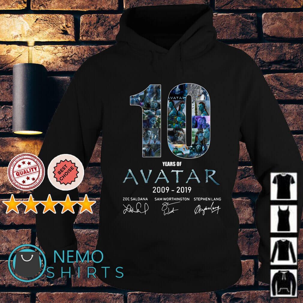 10 years of Avatar 2009 2019 signature Hoodie