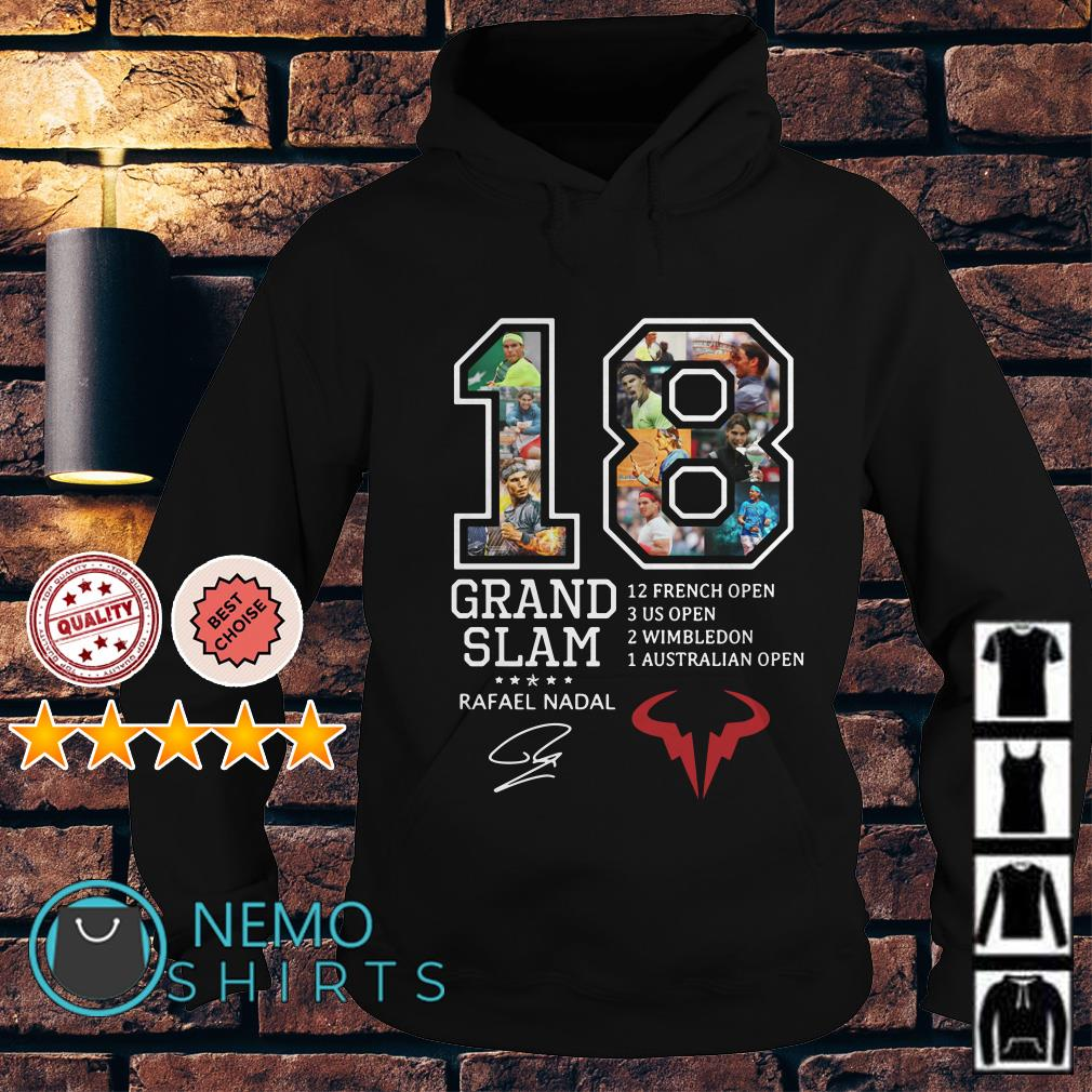 18 years Grand Slam Rafael Nadal signature Hoodie