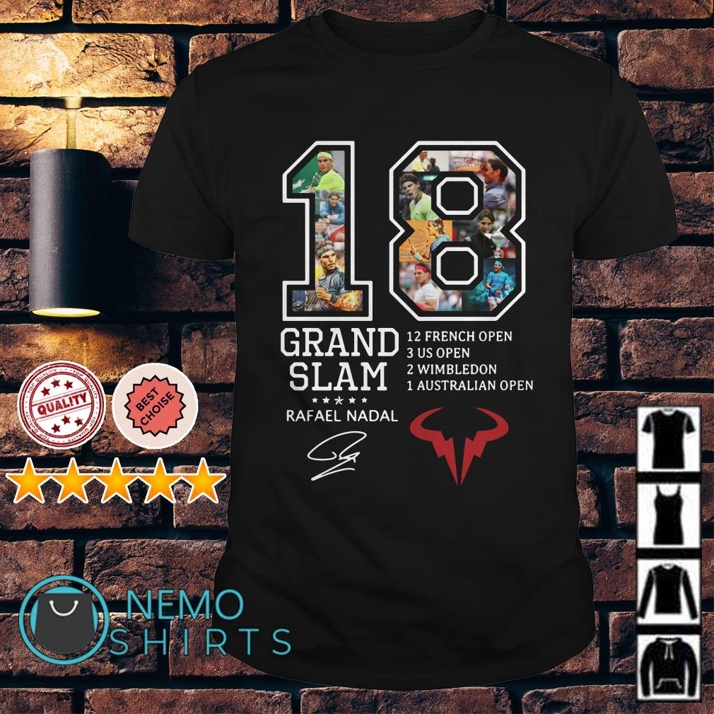 18 years Grand Slam Rafael Nadal signature shirt