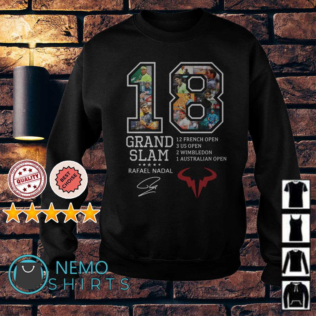 18 years Grand Slam Rafael Nadal signature Sweater