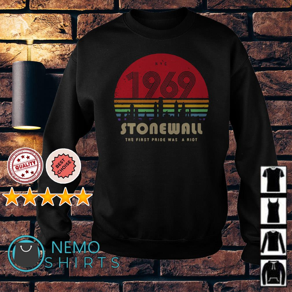 1969 stonewall the first pride was a riot vintage Sweater