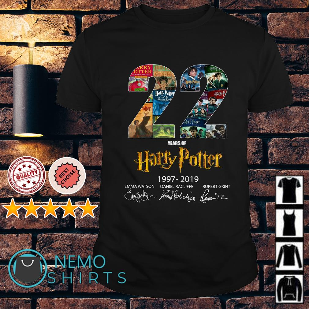 22 years of Harry Potter signature shirt