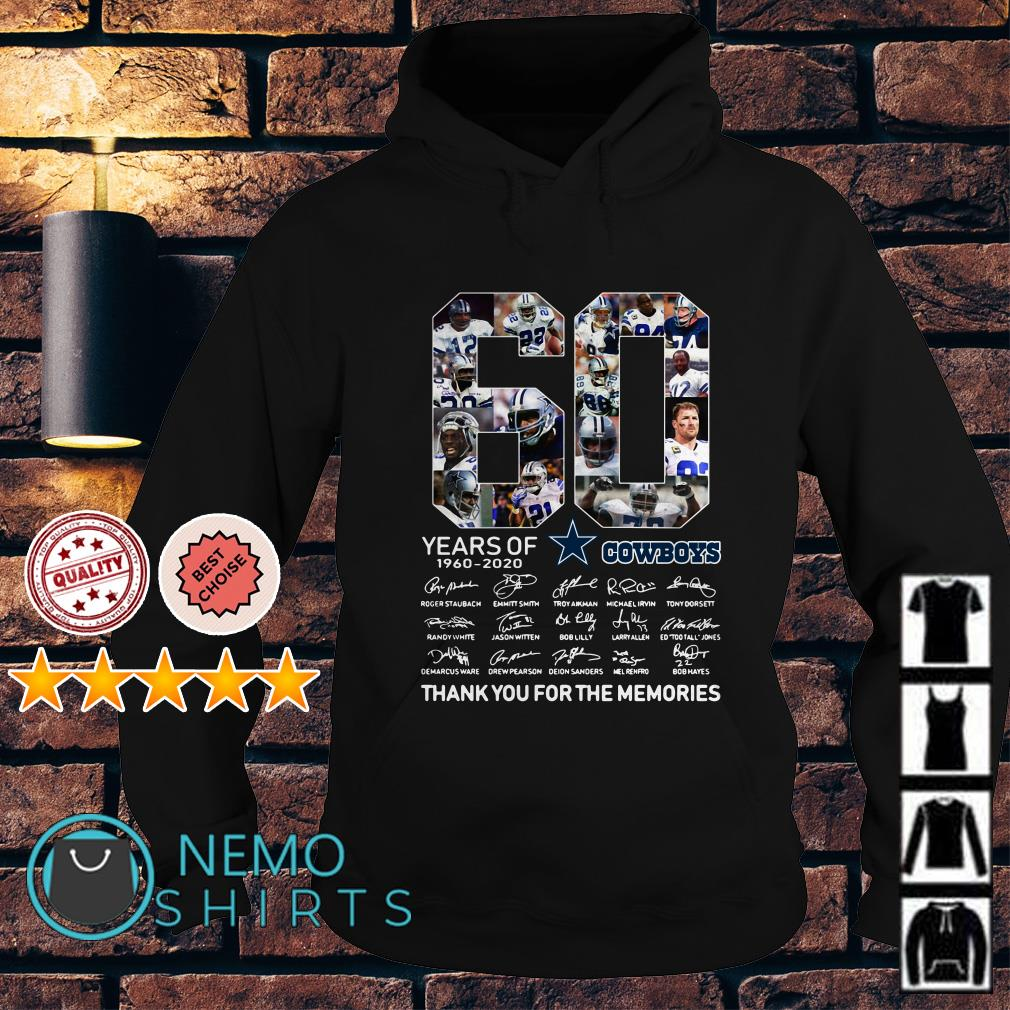 60 years of Cowboys 1960 2020 thank you for the memories Hoodie