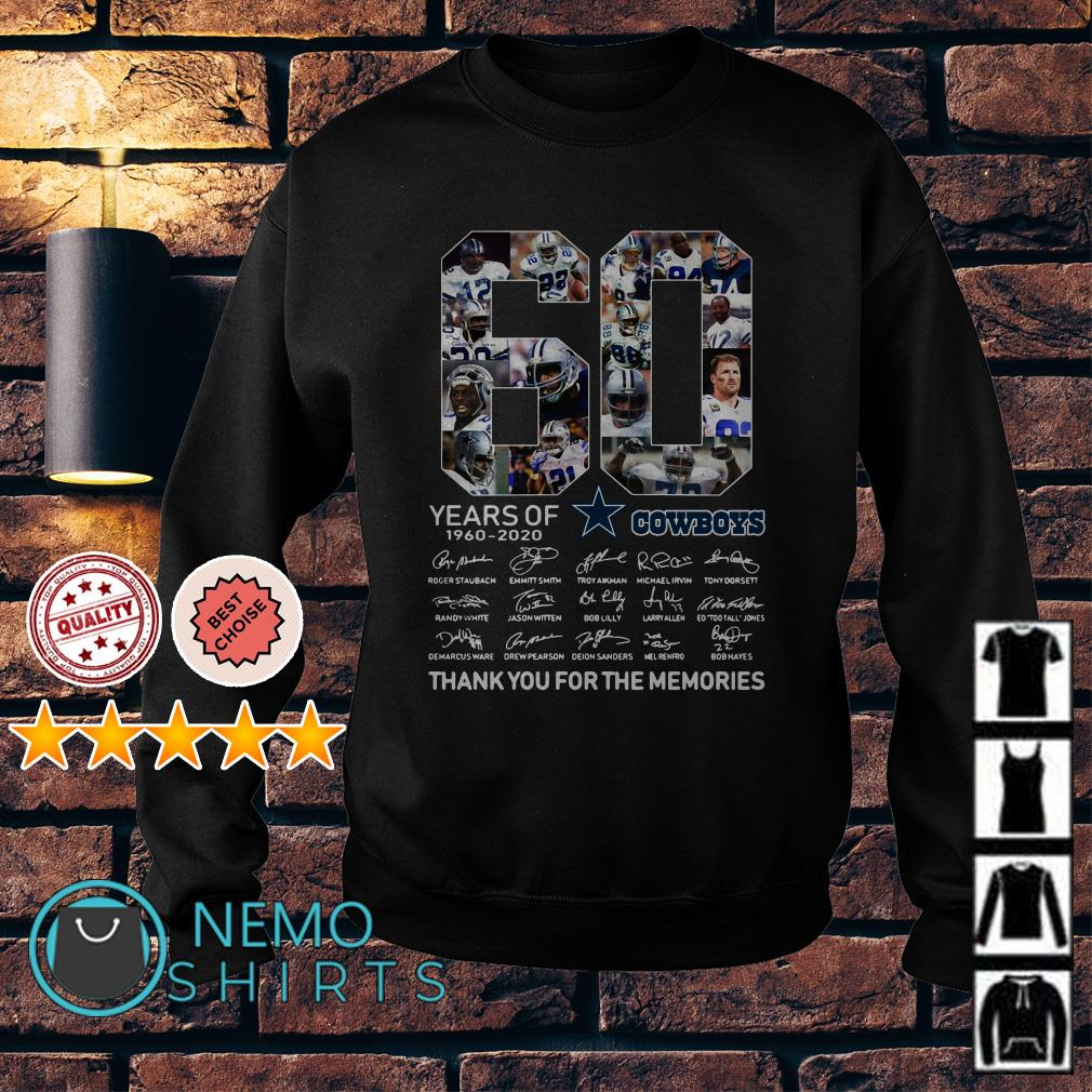 60 years of Cowboys 1960 2020 thank you for the memories Sweater