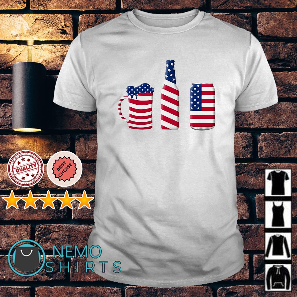 Beer American flag Independence day shirt