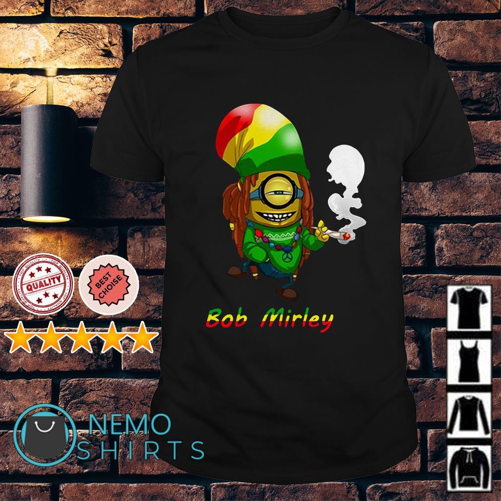 Bob Marley Minion smoke Bod Mirley shirt