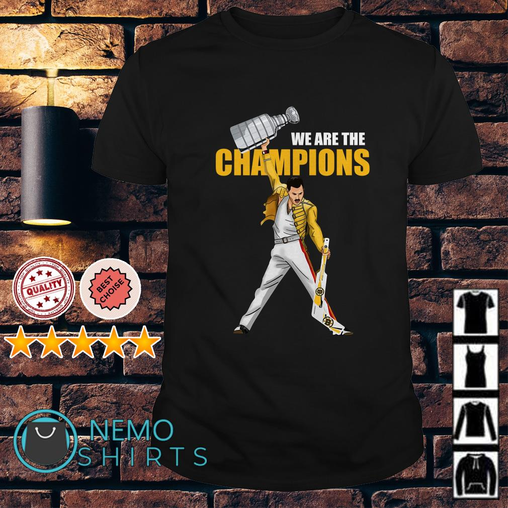 Boston Bruins Freddie Mercury we are the champions shirt