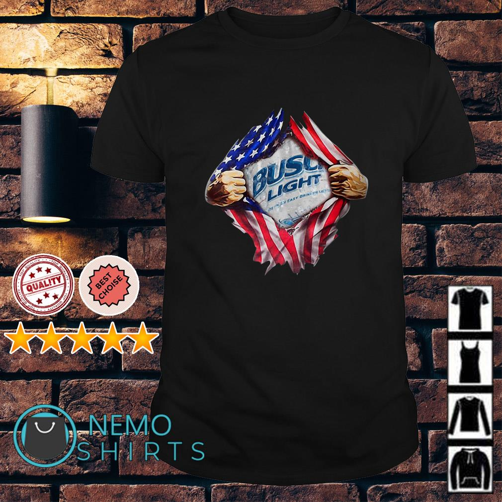 Busch Light inside me American flag Independence day shirt