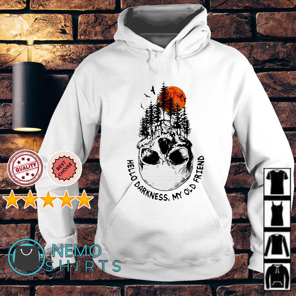 Camping skull hello darkness my old friend Hoodie