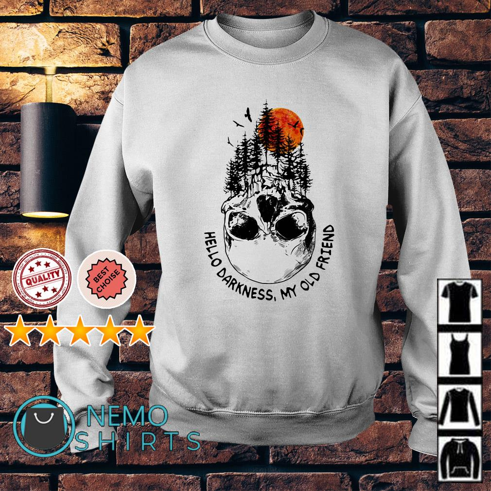 Camping skull hello darkness my old friend Sweater