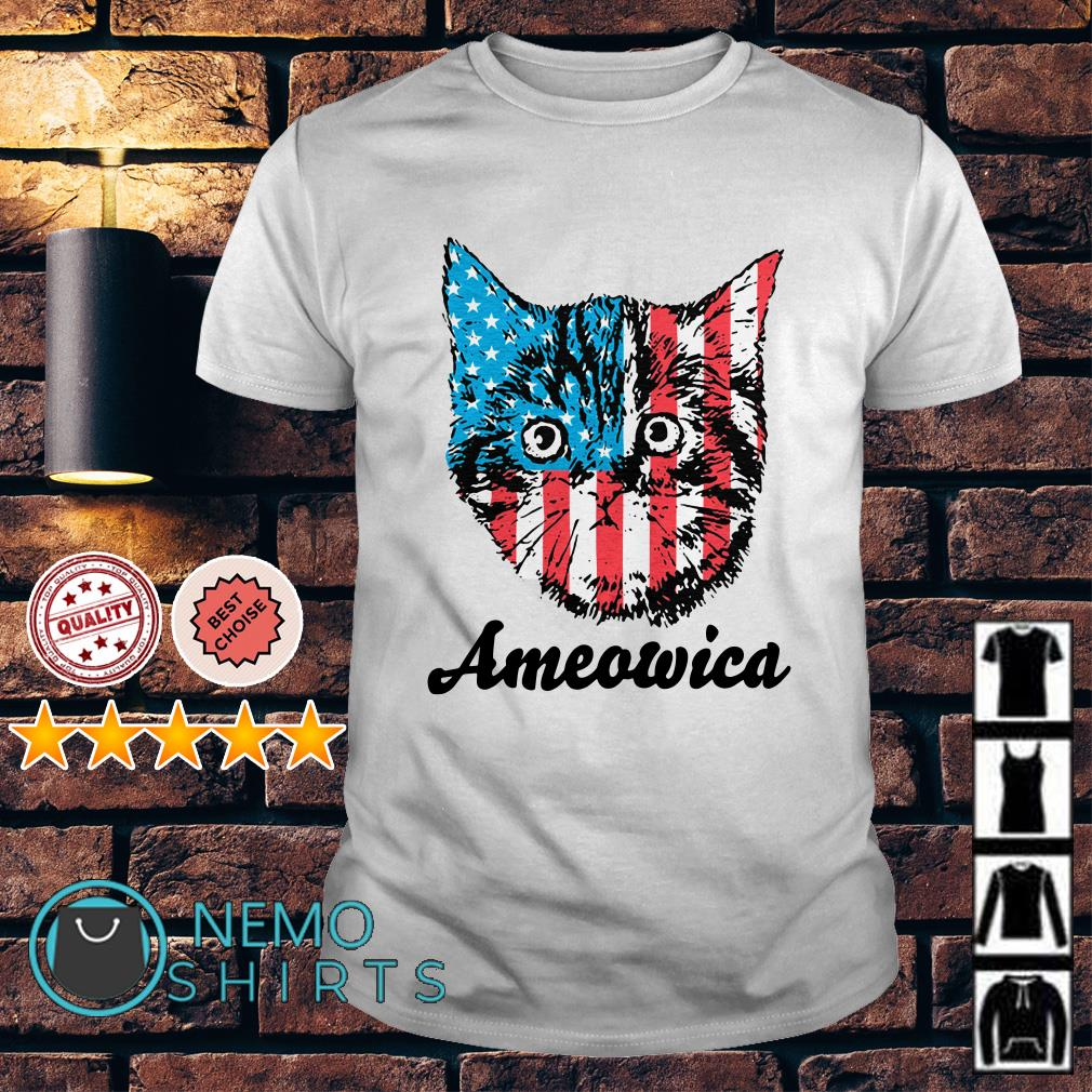 Cat American flag Ameowica shirt