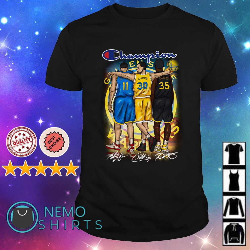 Champion Golden State Warriors Stephen Curry Klay signature shirt