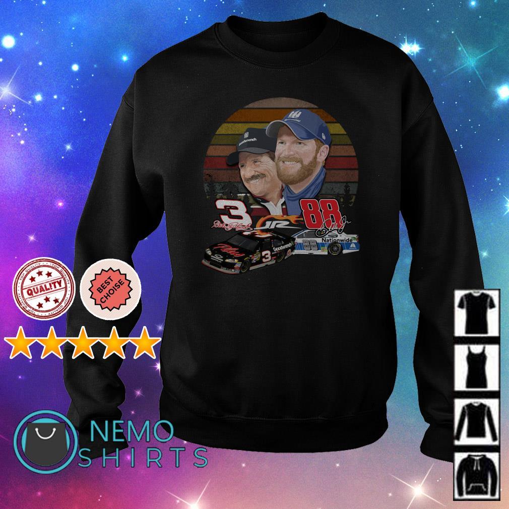 Dale Earnhardt and Dale Earnhardt Jr. forever love vintage Sweater