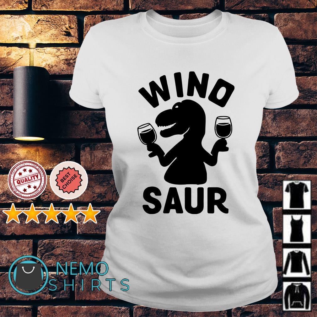 Dinosaur drink wine Wino saur Ladies tee