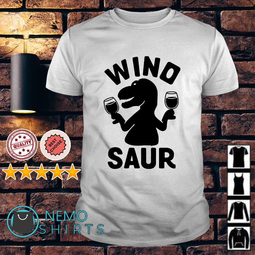 Dinosaur drink wine Wino saur shirt