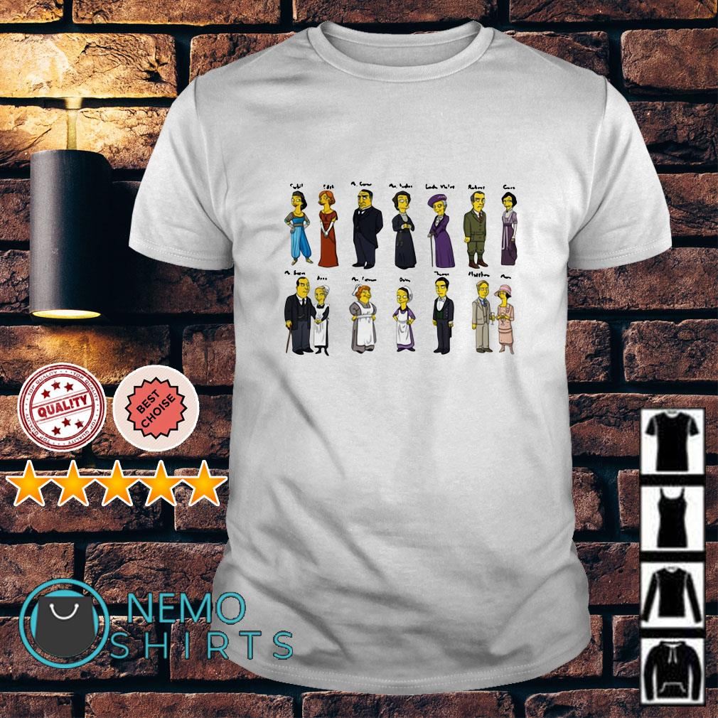 Downton Abbey Characters Portraits shirt