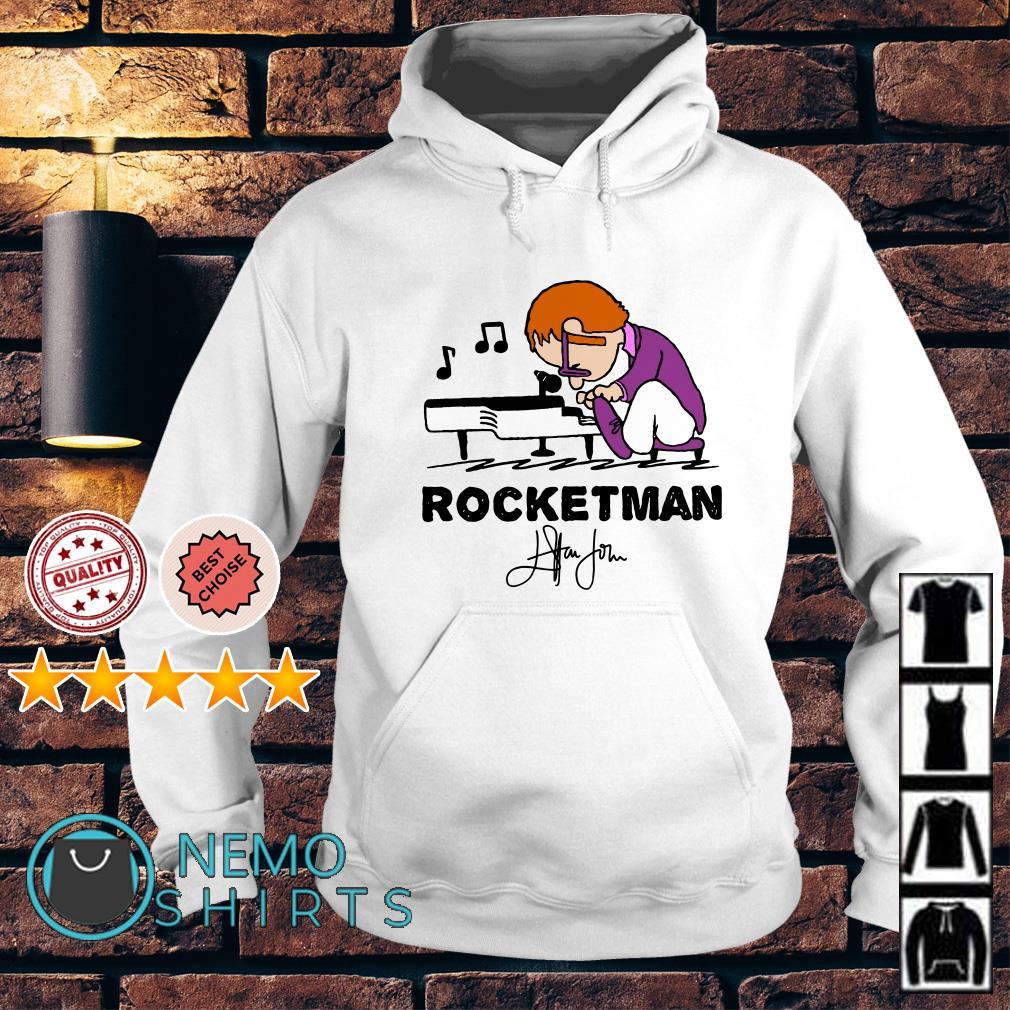 Elton John in the style of Peanuts rocket man Hoodie