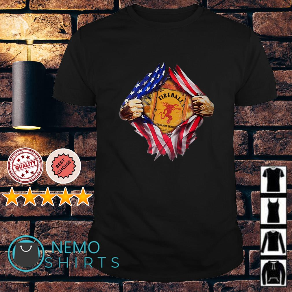 Fireball inside me American flag Independence day shirt