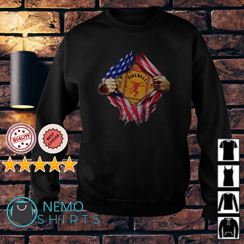 Fireball inside me American flag Independence day Sweater