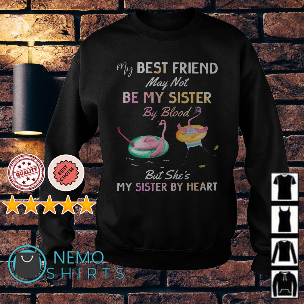 Flamingo my best friend may not be my sister by blood Sweater