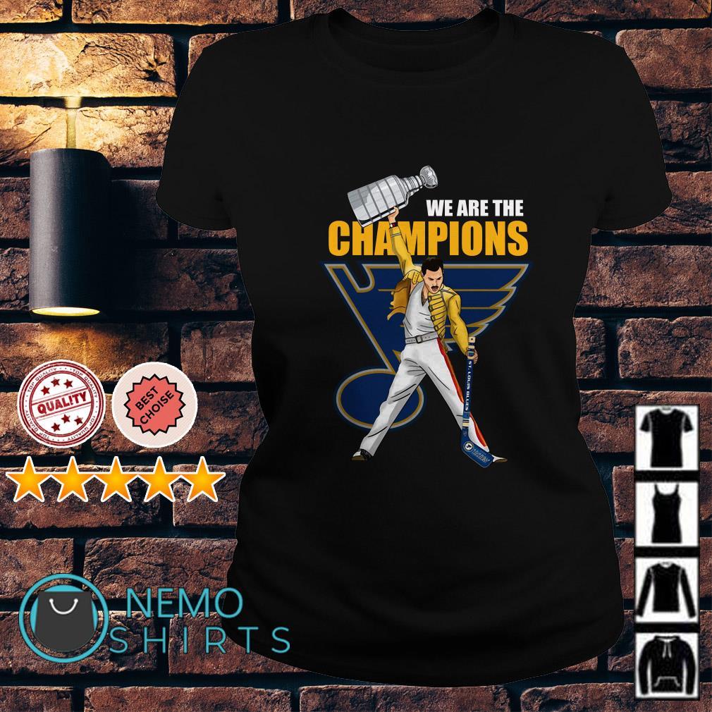 667fbb5a5289 Hoodie Freddie Mercury St. Louis Blues We are the champions Ladies tee