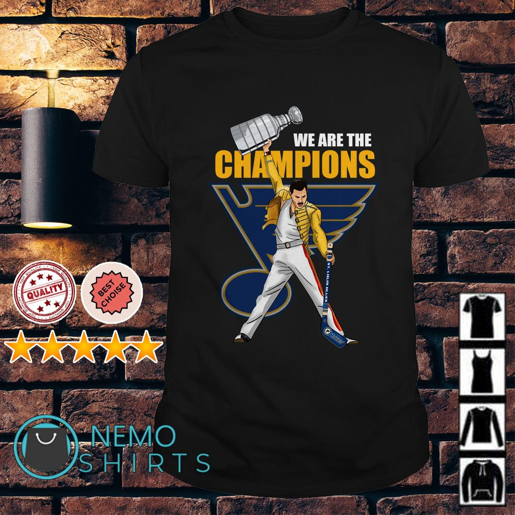 Freddie Mercury St. Louis Blues We are the champions shirt