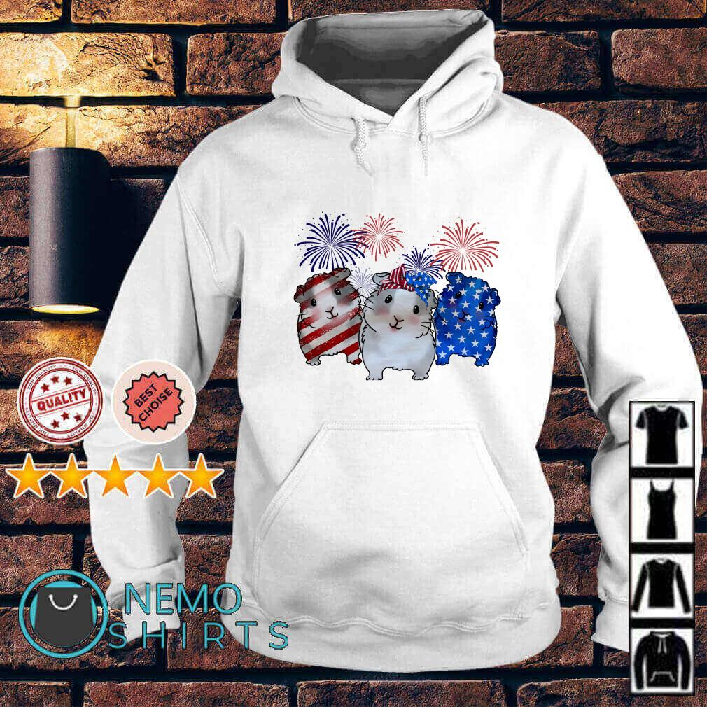 Guinea Pigs American flag happy Independence day Hoodie
