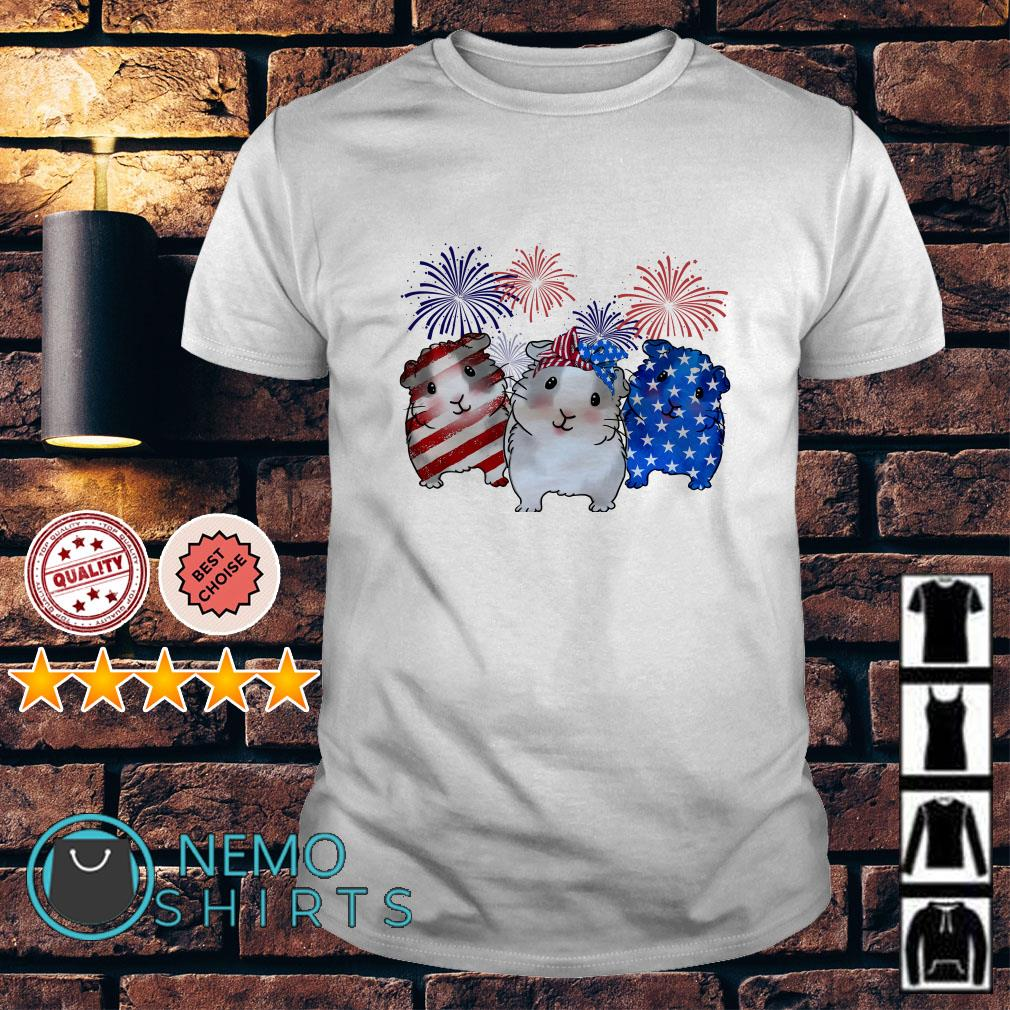 Guinea Pigs American flag happy Independence day shirt