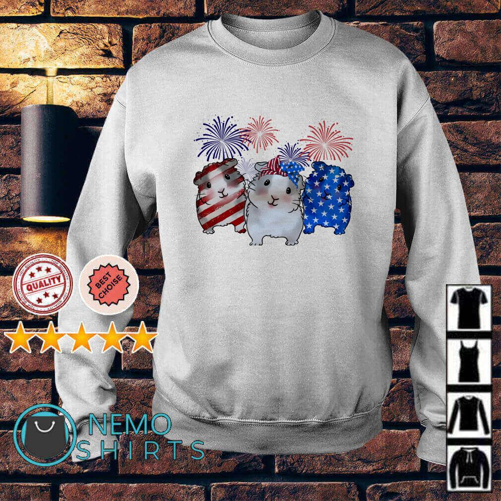Guinea Pigs American flag happy Independence day Sweater