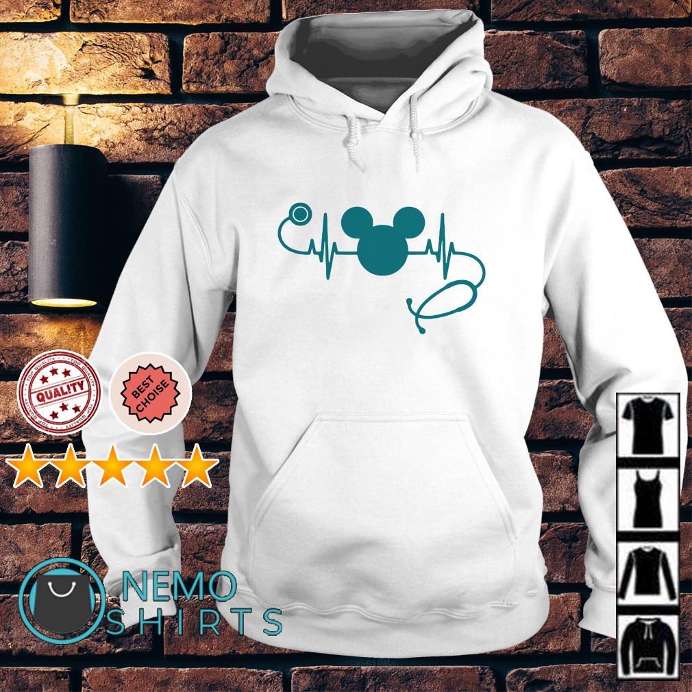 Heartbeat Mickey mouse nurse Hoodie