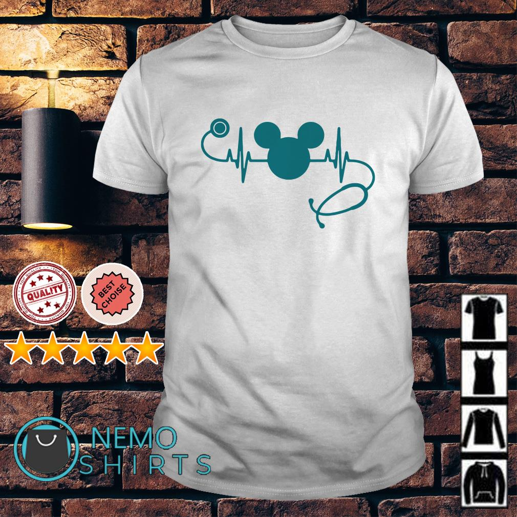 Heartbeat Mickey mouse nurse shirt