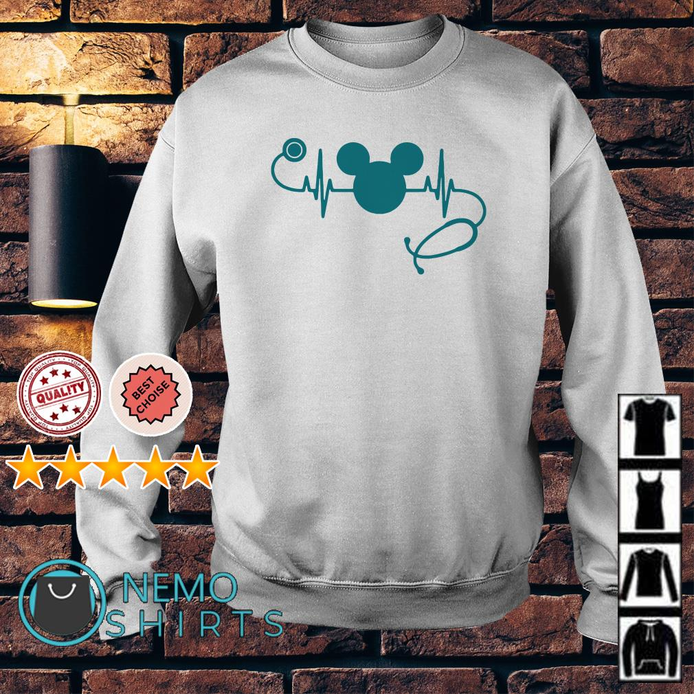 Heartbeat Mickey mouse nurse Sweater