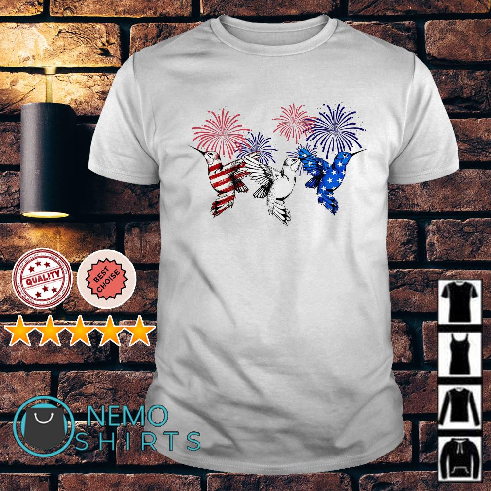 Hummingbirds American flag happy Independence day shirt