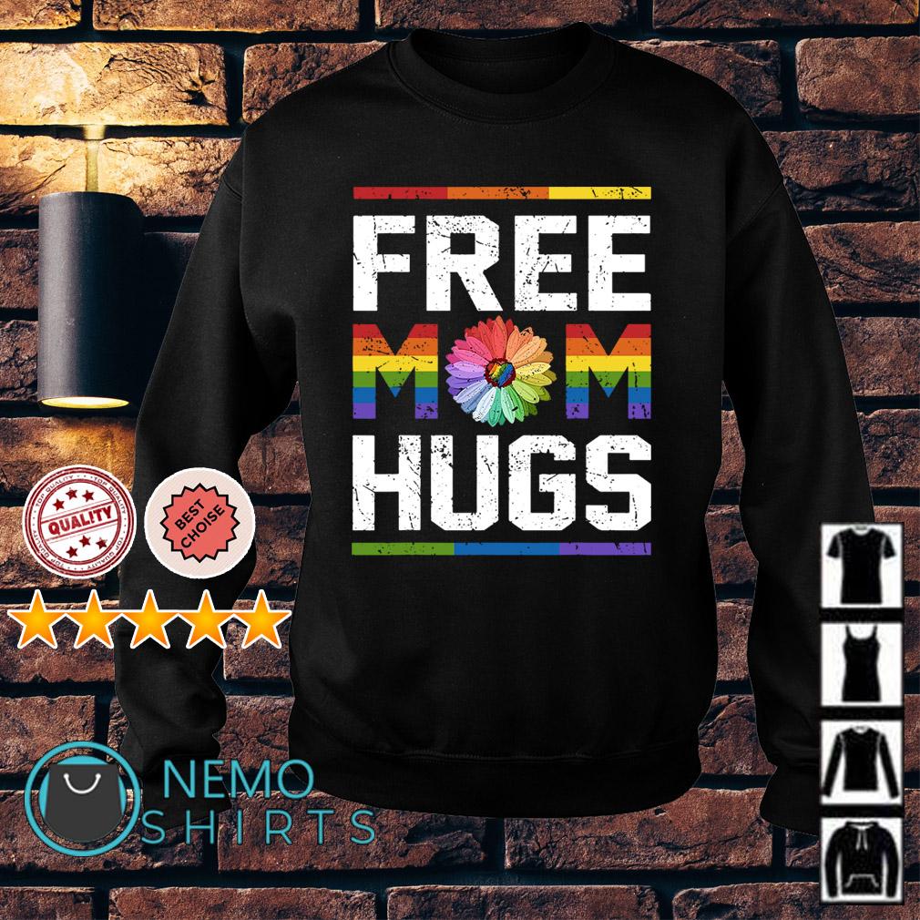 LGBT flower free Mom hugs Sweater