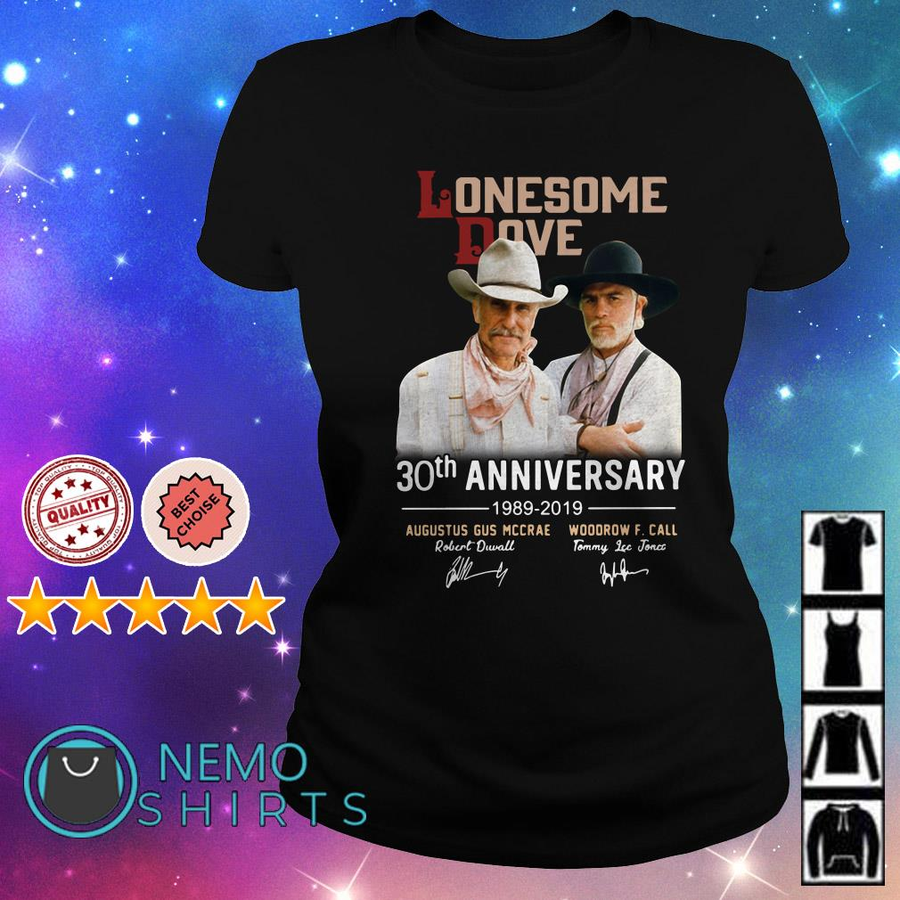 Lonesome Dove 30th anniversary 1989 2019 signature Ladies Tee