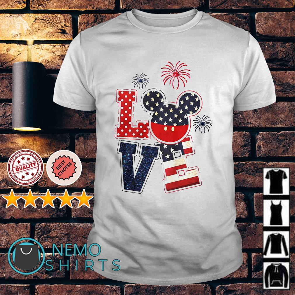 Mickey mouse love Independence day shirt