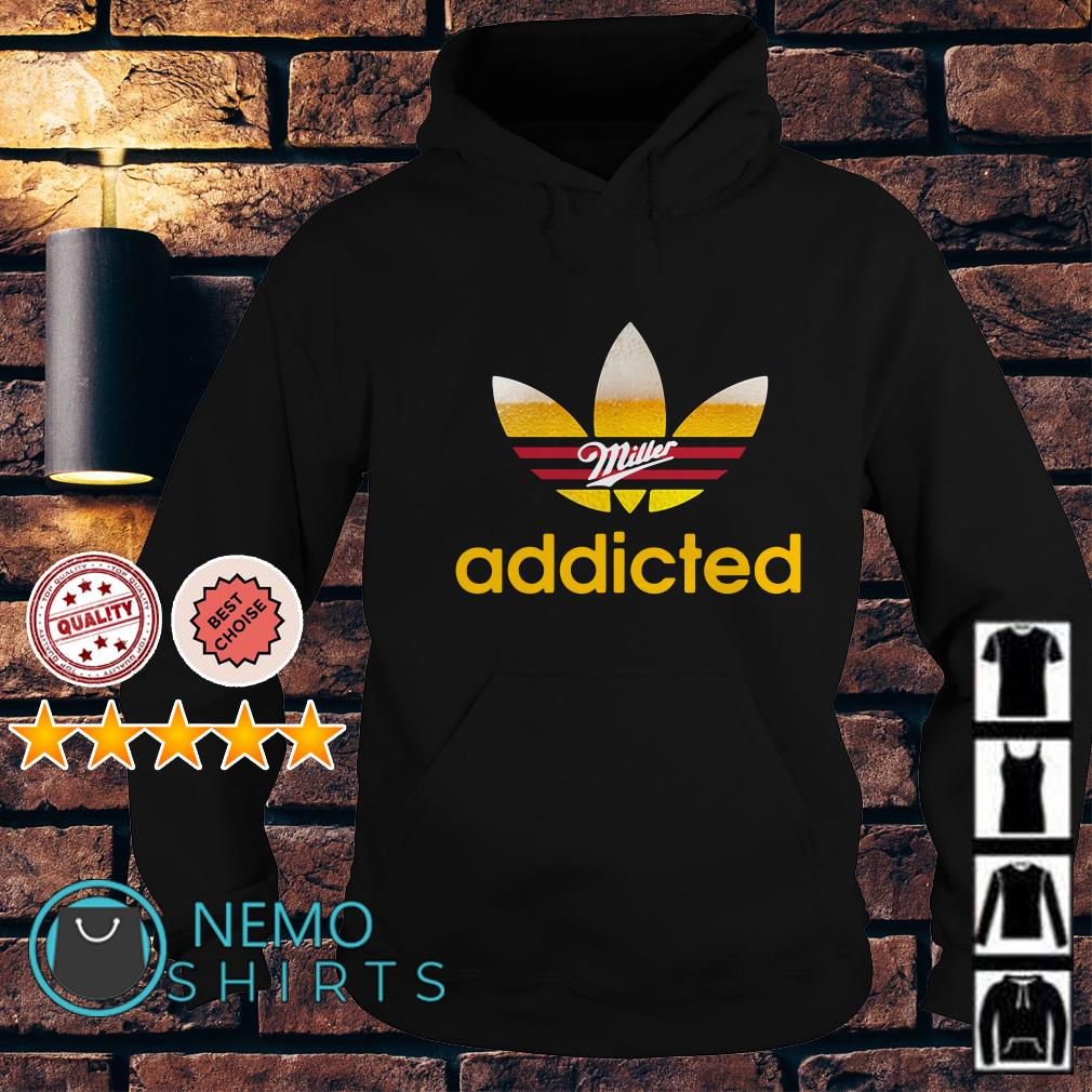 Miller Light Adidas addicted Hoodie