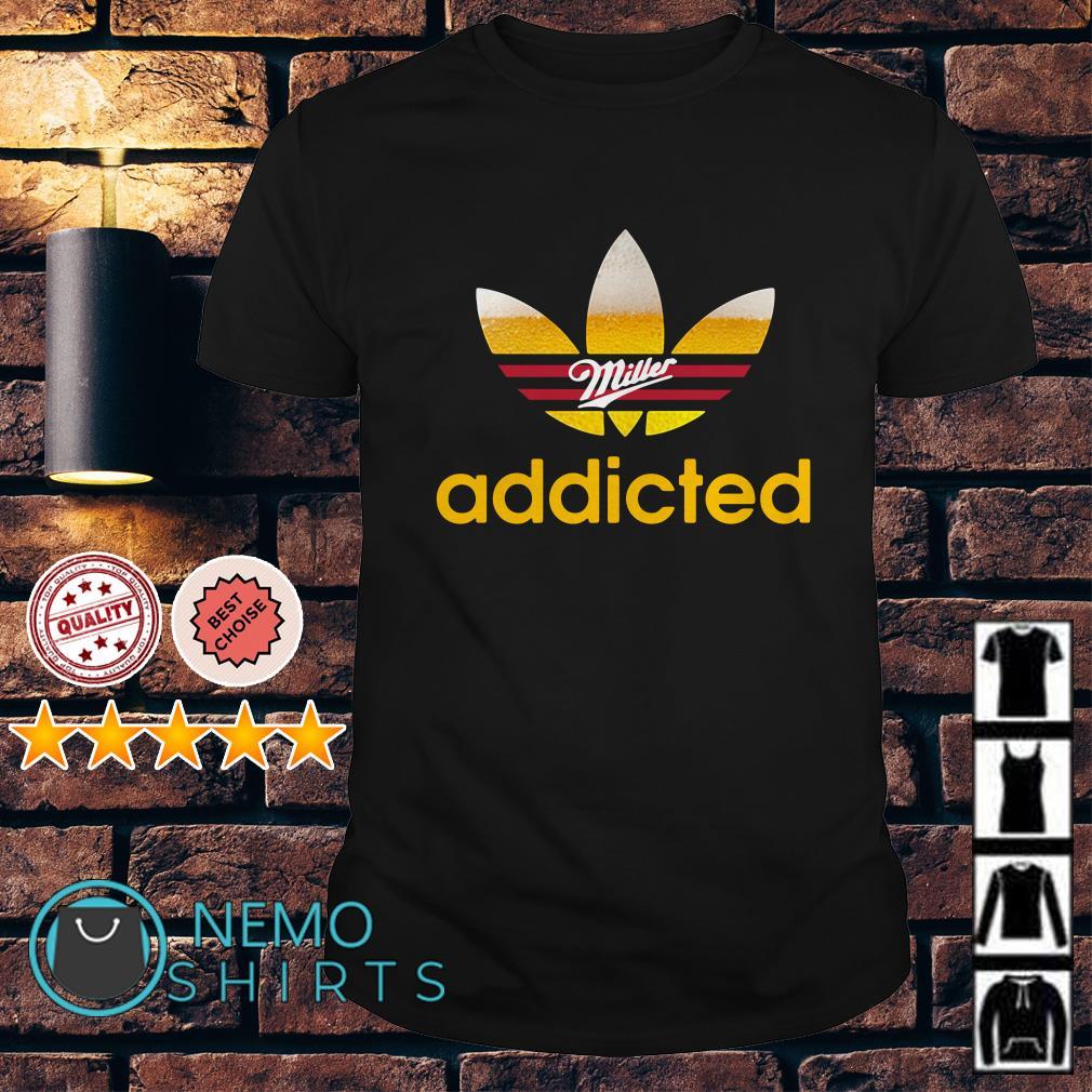Miller Light Adidas addicted shirt