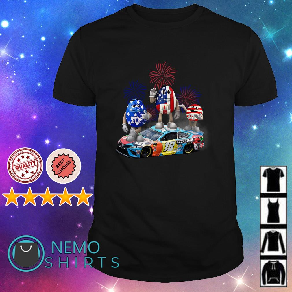 M and M's Kyle Busch happy Independence day shirt
