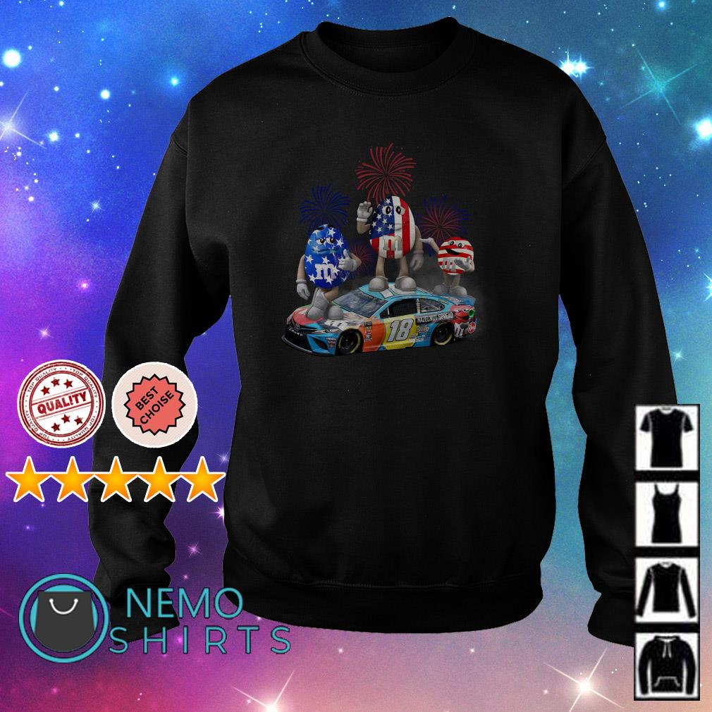 M and M's Kyle Busch happy Independence day Sweater