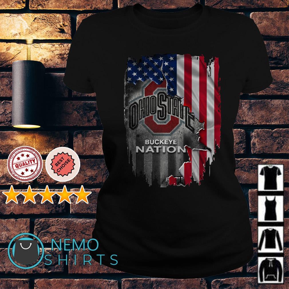 Ohio State Flag Ohio State University Buckeyes  American Mens Shirts