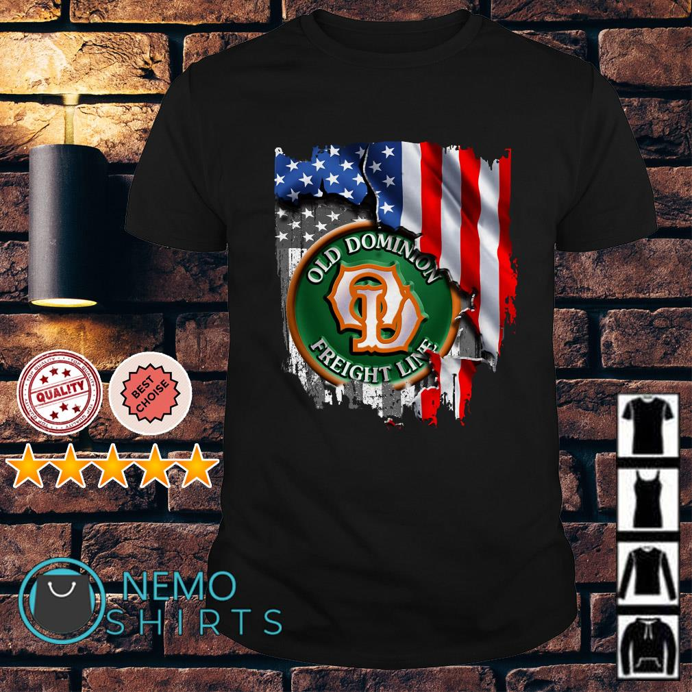 Old Dominion Freight Line American flag Independence day shirt