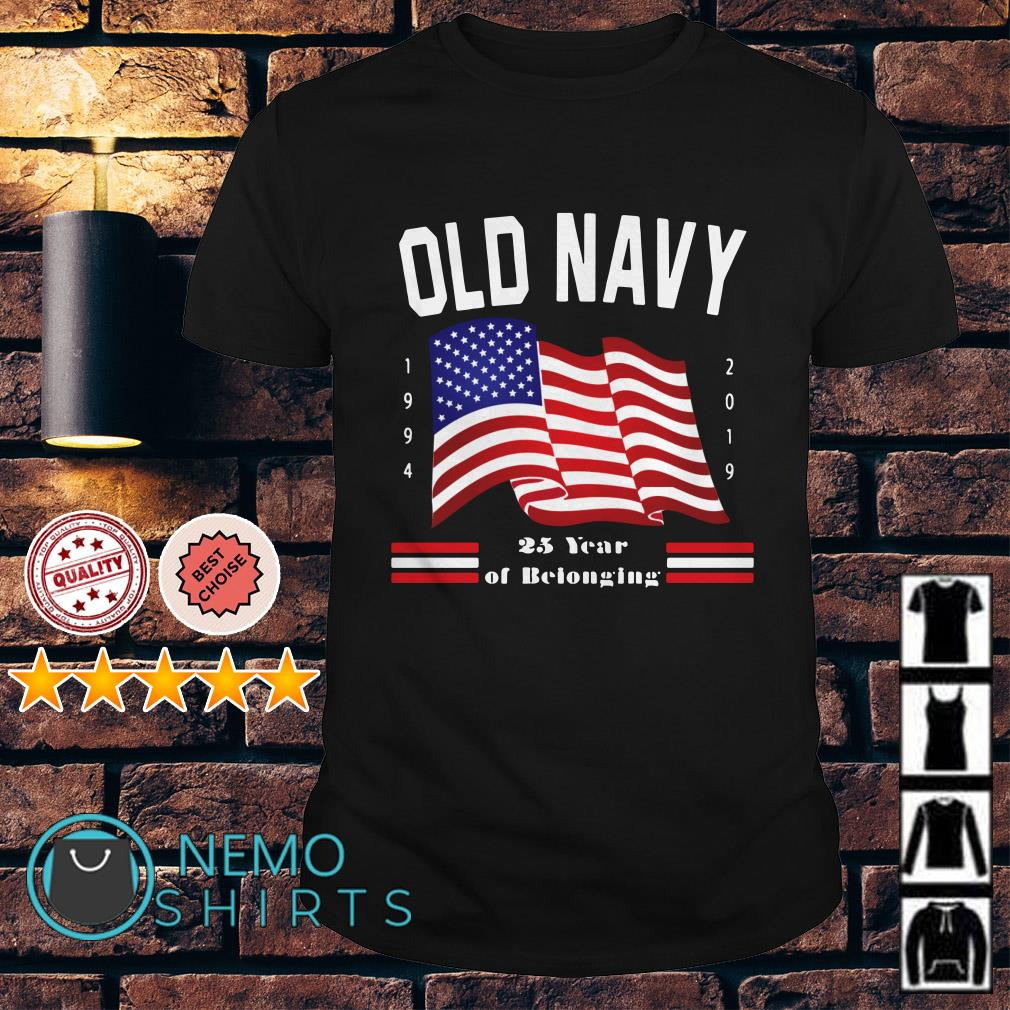 Old Navy 25 years of belonging independence day shirt