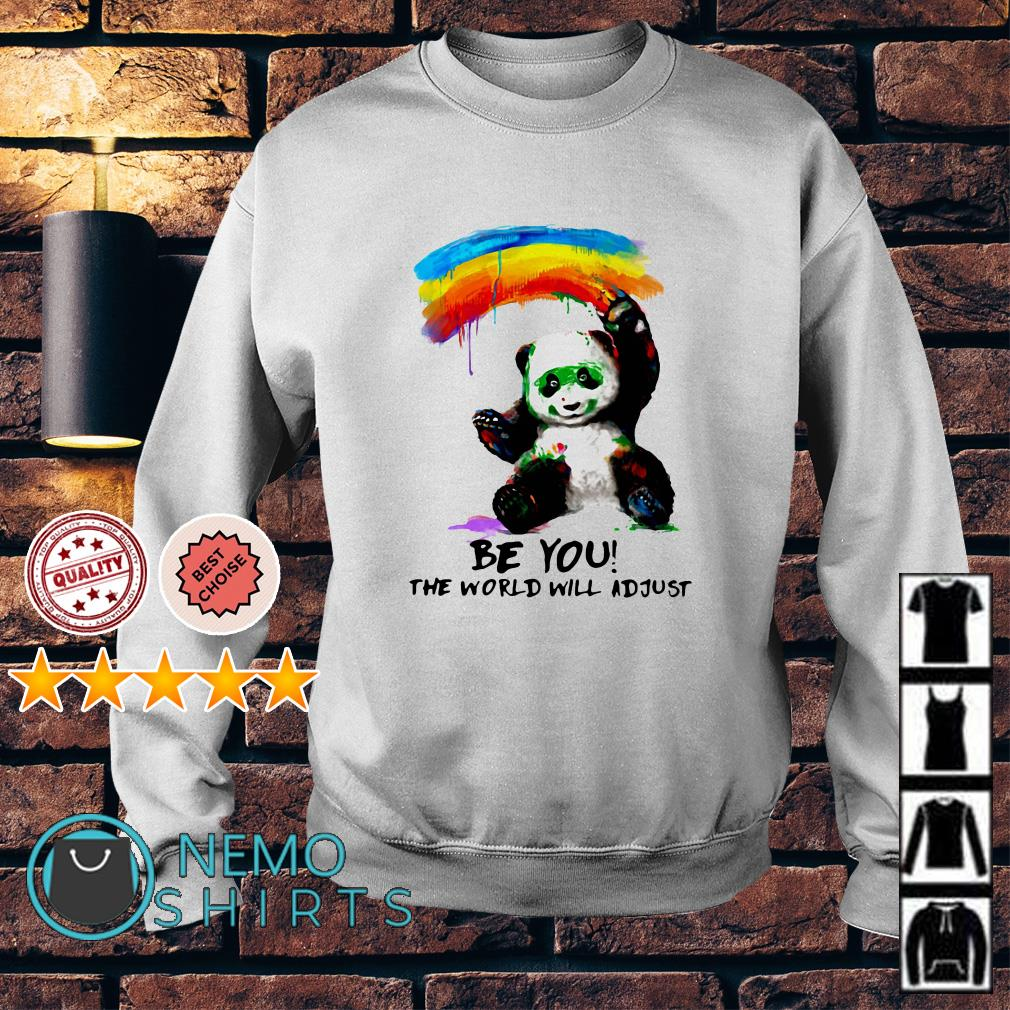 Panda with watercolor be you the world will adjust Sweater