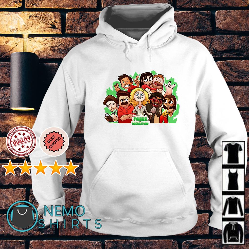 Parks and Recreation character chibi Hoodie