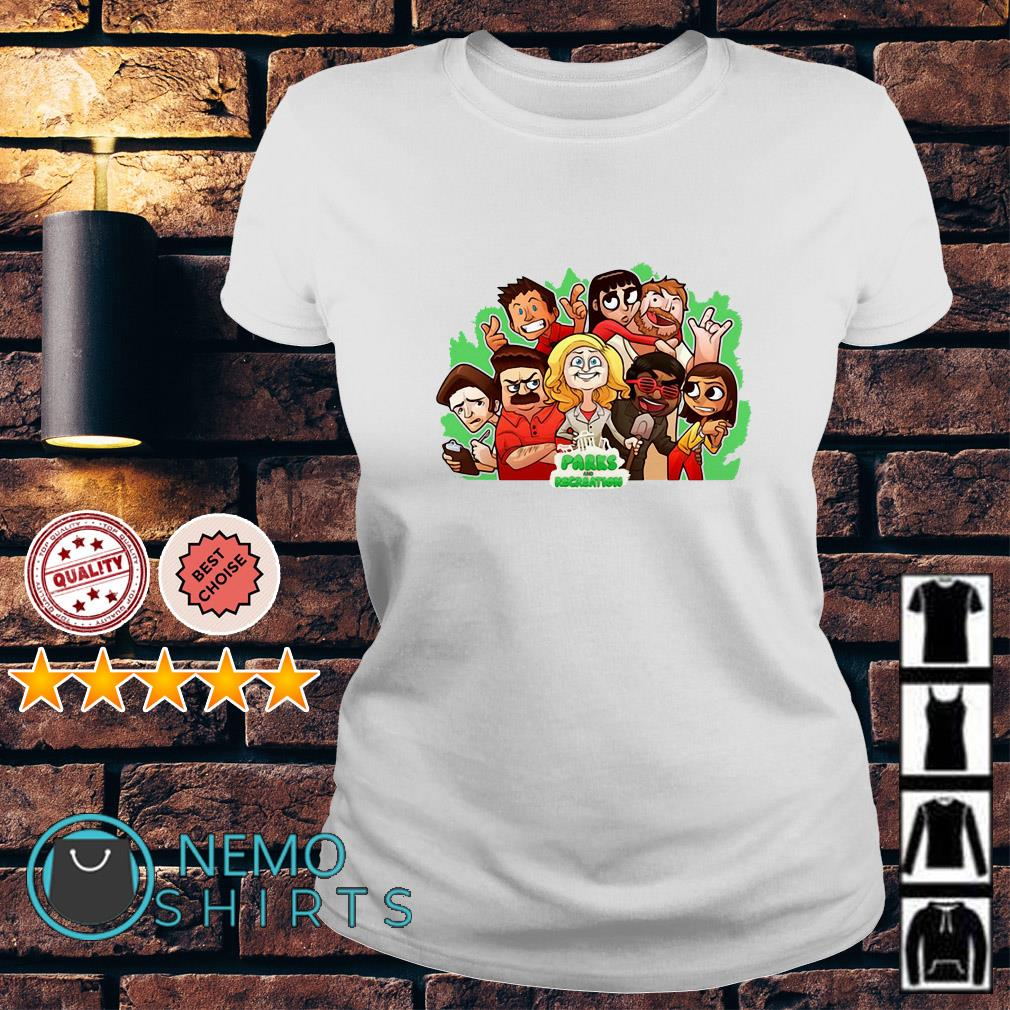 Parks and Recreation character chibi Ladies tee