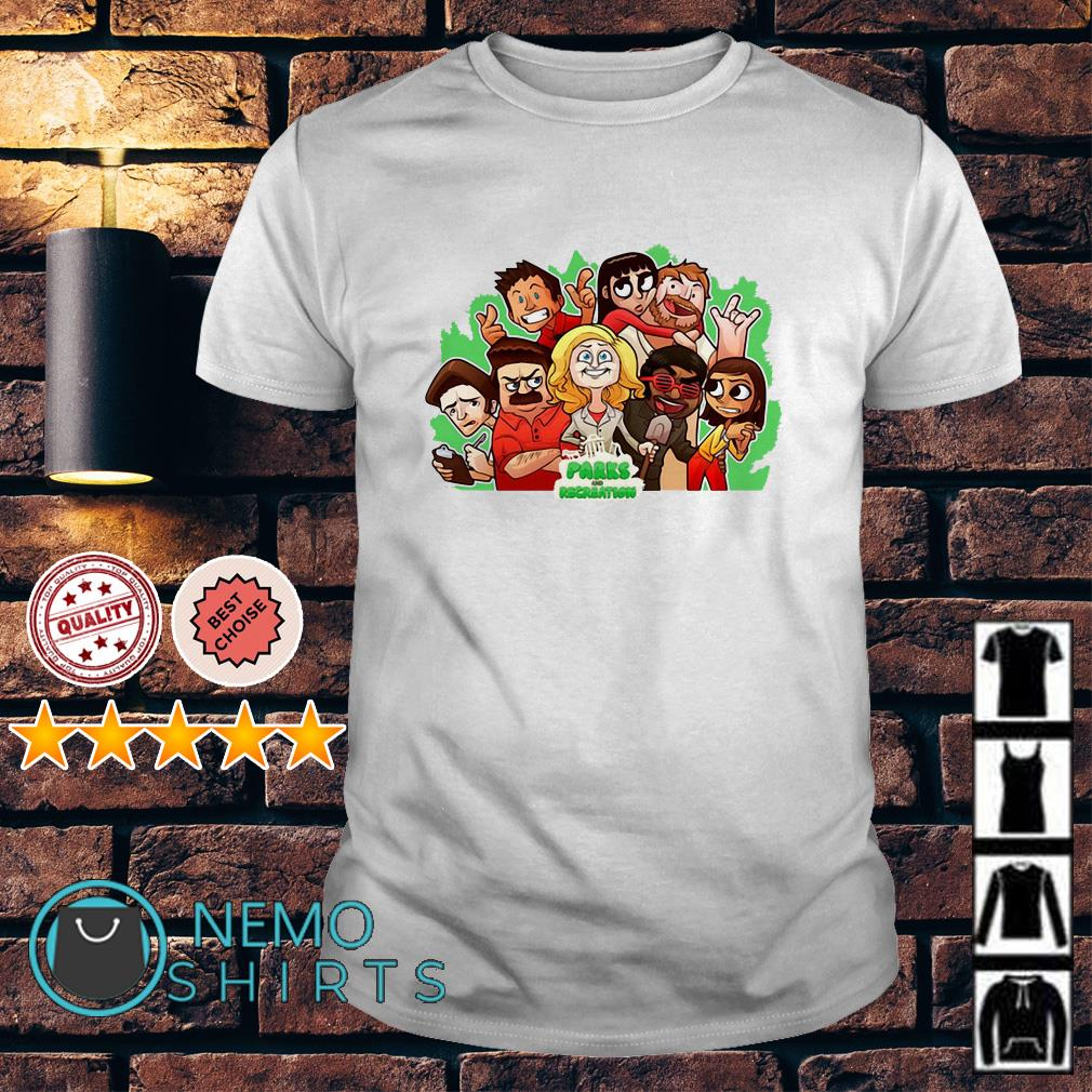 Parks and Recreation character chibi shirt