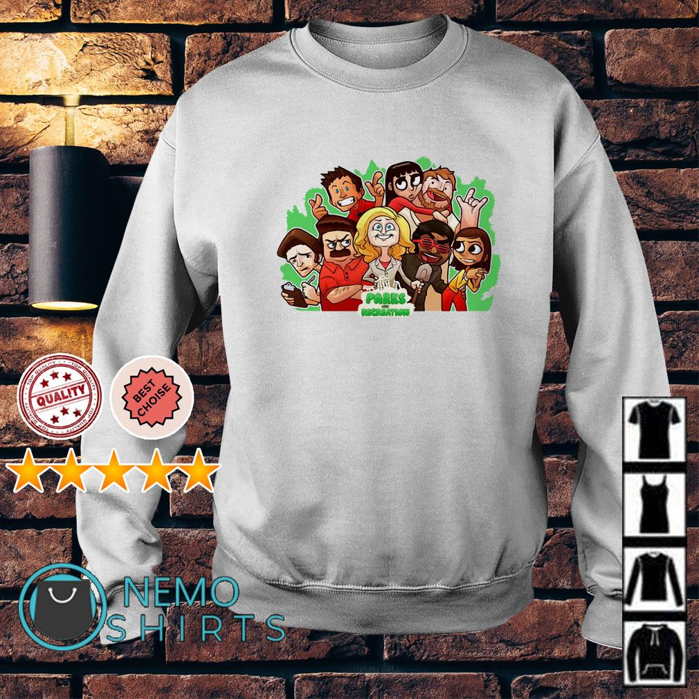 Parks and Recreation character chibi Sweater