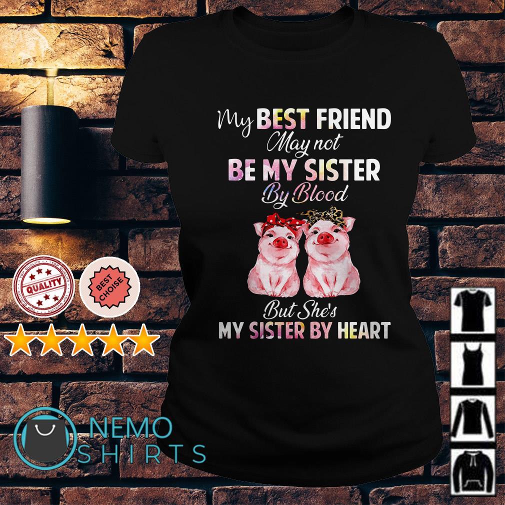 Pig my best friend may not be my sister by blood Ladies tee